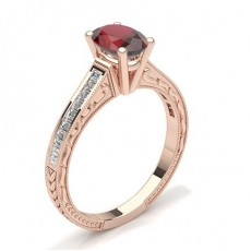 Oval Rose Gold Vintage Engagement Rings