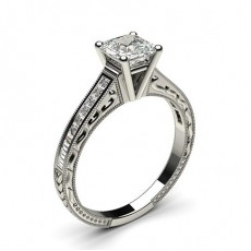 Asscher  Vintage Engagement Rings