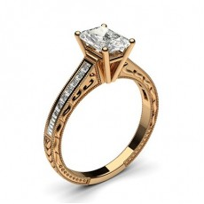Radiant Rose Gold Vintage Engagement Rings