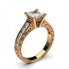 Rotgold  Vintageringe Verlobungsringe