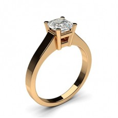 Asscher Rose Gold Diamond Engagement Rings