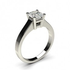 Asscher Platinum  Solitaire Engagement Rings