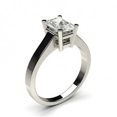 Radiant White Gold Solitaire Diamond Engagement Rings
