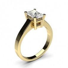 Radiant Yellow Gold Solitaire Engagement Rings