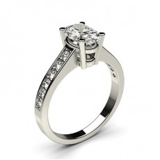 4 Prong Setting Medium Side Stone Engagement Ring