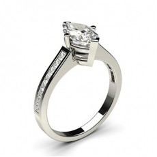 Marquise White Gold  Side Stone Diamond Engagement Rings