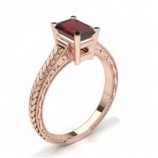 Emerald Rose Gold Vintage Diamond Engagement Rings
