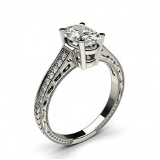 Oval Cut Diamond Rings