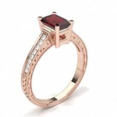 Emerald Rose Gold Vintage Engagement Rings