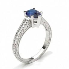 Pear Platinum Vintage Diamond Engagement Rings