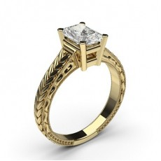 Radiant Yellow Gold Diamond Engagement Rings