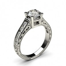 4 Prong Setting Large Studded Engagement Ring