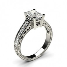 Radiant Platinum Engagement Rings
