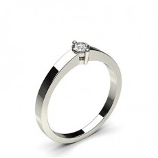 Round Platinum Promise Diamond Rings