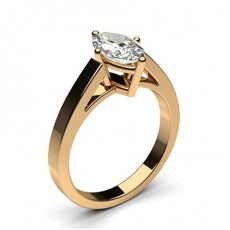 Marquise Rose Gold Solitaire Diamond Engagement Rings