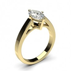 Marquise Yellow Gold  Solitaire Diamond Engagement Rings