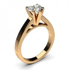 Heart Rose Gold Classic Solitaire Engagement Rings