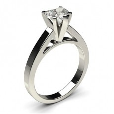 Heart Platinum Engagement Rings
