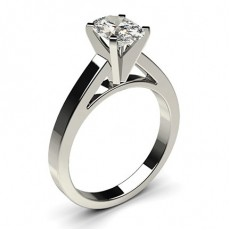 Oval   Solitaire Diamond Engagement Rings