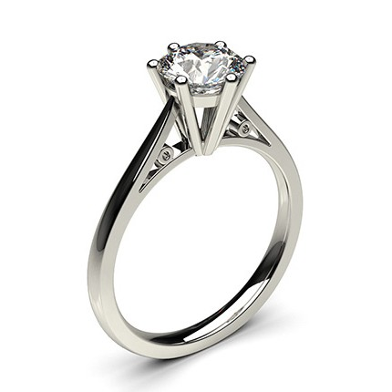 Buy 6 Prong Setting Thin Engagement Ring Online UK Diamonds Factory