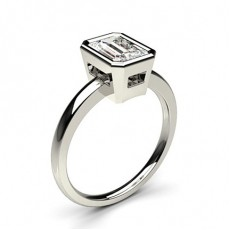Radiant White Gold Solitaire Diamond Rings