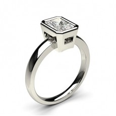 Radiant Platin Diamantringe