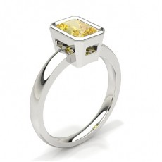 Radiant White Gold Yellow Diamond Engagement Engagement Rings