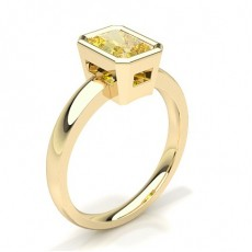 Radiant Yellow Gold Solitaire Diamond Rings