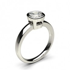 Cushion White Gold Classic Solitaire Engagement Rings