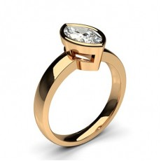 Marquise Rose Gold Classic Solitaire Engagement Rings
