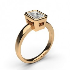 Radiant Rose Gold Solitaire Diamond Rings