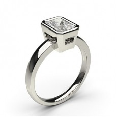 Radiant Platine Bague Diamant