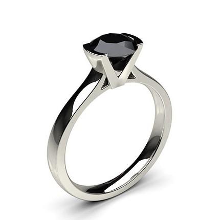 Buy Semi Bezel Setting Medium Engagement Black Diamond Ring