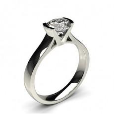 Semi Bezel Setting Large Engagement Ring