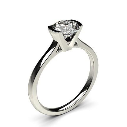 6befcca1c3131 Bague de fiançailles fine solitaire diamant serti demi-clos - Diamonds  Factory