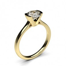 Yellow Gold Solitaire Diamond Engagement Rings