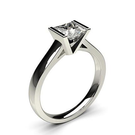 Semi Bezel Setting Medium Engagement Ring