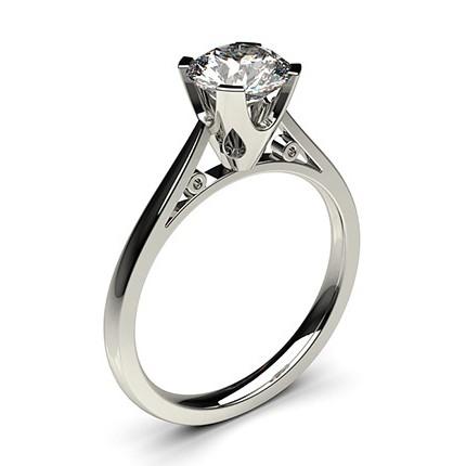 4 Prong Setting Thin Engagement Ring