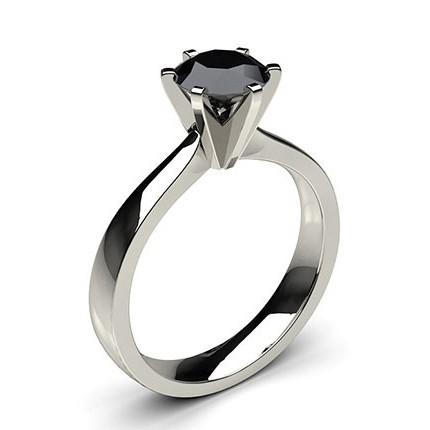 24713c7dacec8 Bague solitaire fine diamant noir serti clos - Diamonds Factory