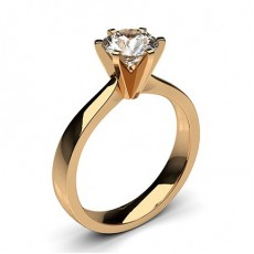 Heart Rose Gold  Classic Solitaire Diamond Engagement Rings