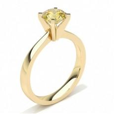 Or Jaune Bagues de fiançailles en Diamant jaune Bague de fiançailles