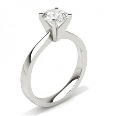 Round   Solitaire Diamond Engagement Rings