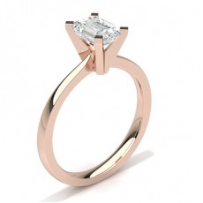Emerald Rose Gold Diamond Rings