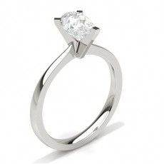 Pear Platinum Solitaire Diamond Rings