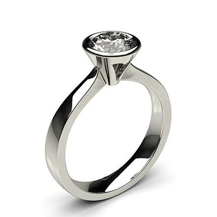 Full Bezel Setting Large Engagement Ring