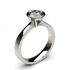 Full Bezel Setting Diamond Rings