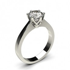 6 Prong Setting Medium Engagement Ring