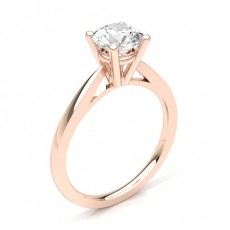 Rond Or Rose Solitaire BaguesDiamant