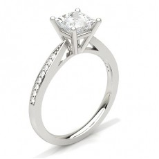 Princess White Gold Diamond Rings