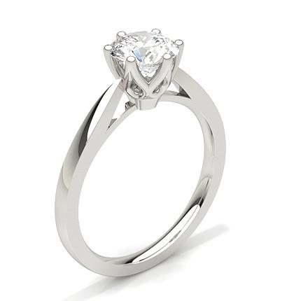 6 Prong Setting Thin Engagement Ring